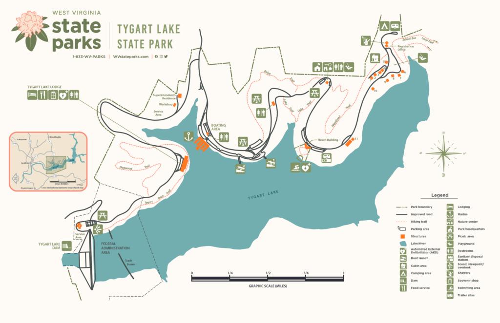 Tygart Lake Map