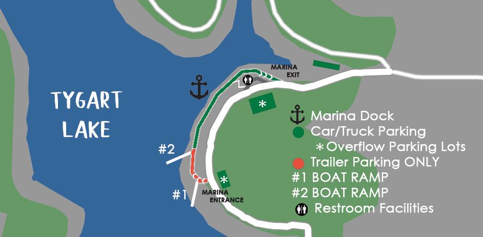 Tygart Lake Marina Map Grafton, WV